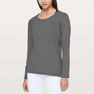 Lululemon Emerald Long Sleeve Top Modern Stripe 6